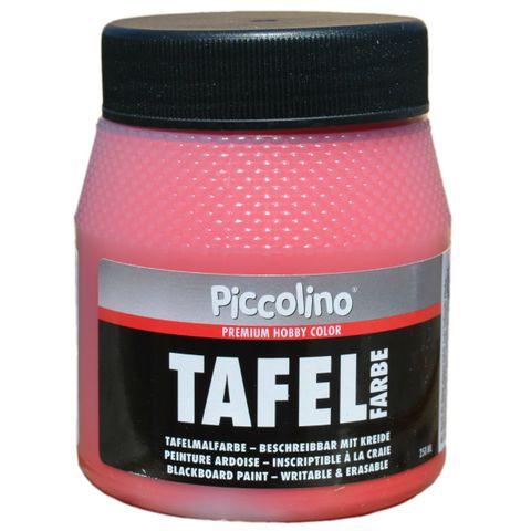 Tafelfarbe Rot 250ml - Piccolino Tafellack bunt für Holz, Karton, Wand – Bild 1