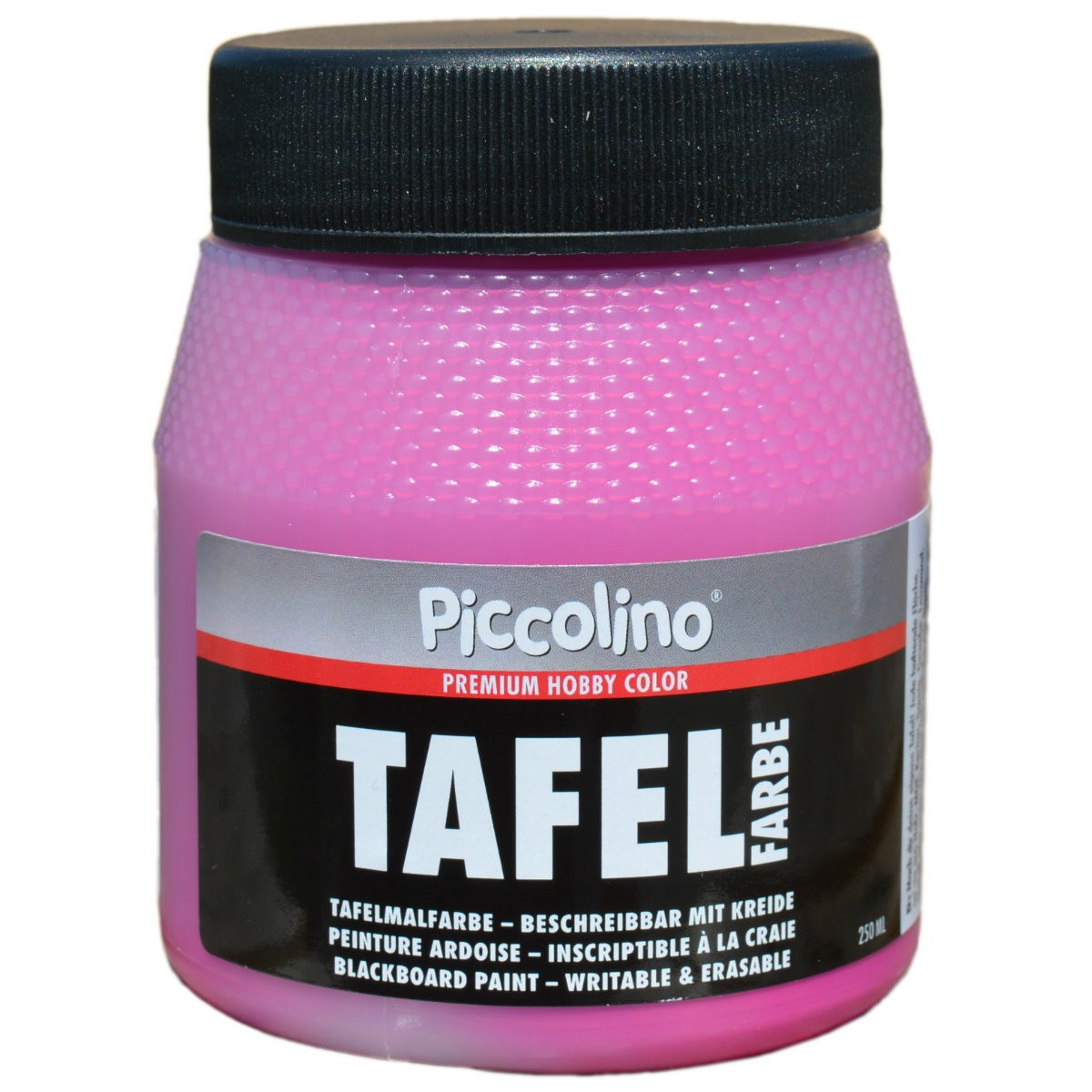tafelfarbe pink 250ml piccolino tafellack bunt f r holz karton wand. Black Bedroom Furniture Sets. Home Design Ideas