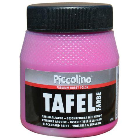 Tafelfarbe Pink 250ml - Piccolino Tafellack bunt für Holz, Karton, Wand – Bild 1