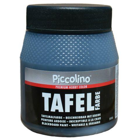 Tafelfarbe Schwarz 250ml - Piccolino Tafellack bunt für Holz, Karton, Wand – Bild 1