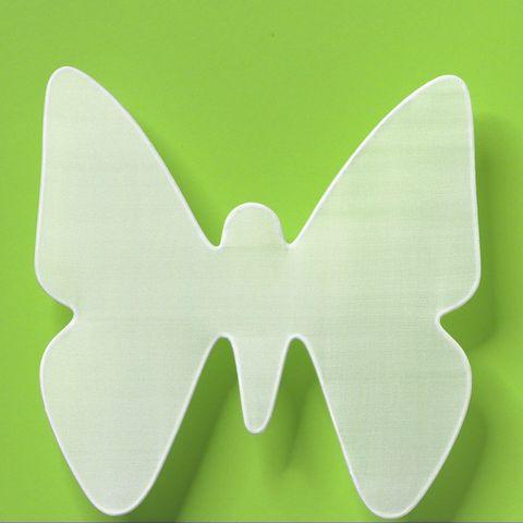 Seiden-Fensterbild Schmetterling für Seidenmalerei 26x26cm, Pongé 08 Seide naturweiss