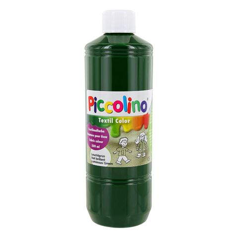 Textilfarbe leucht-grün 500ml - Stoffmalfarbe PICCOLINO Textil Color