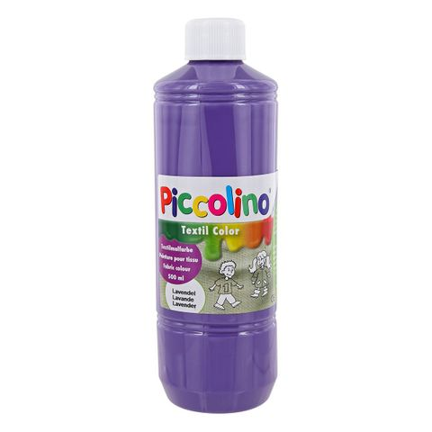 Textilfarbe lavendel 500ml - Stoffmalfarbe PICCOLINO Textil Color – Bild 1