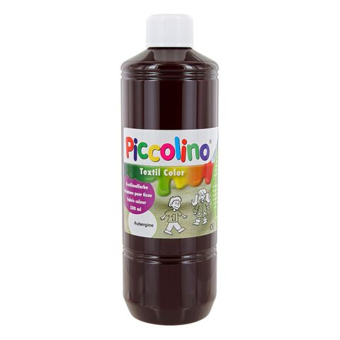 Textilfarbe aubergine 500ml - Stoffmalfarbe PICCOLINO Textil Color – Bild 1