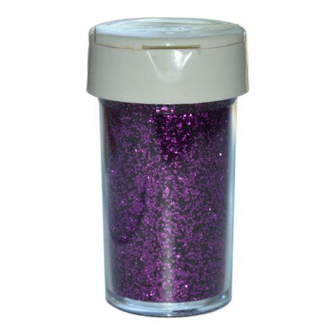 Deko-Glitter Lila 20g - Streu Glitzer / Glimmer zum Basteln – Bild 1