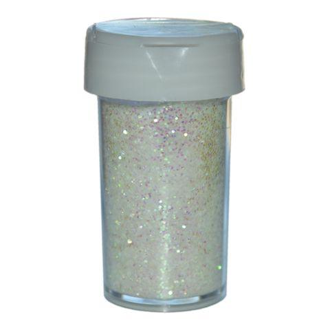 Deko-Glitter Weiß 20g - Streu Glitzer / Glimmer zum Basteln – Bild 1