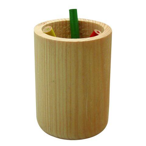 Stifteköcher Holz - Stiftebecher natur zum Selbstgestalten Ø 6cm Höhe 9cm