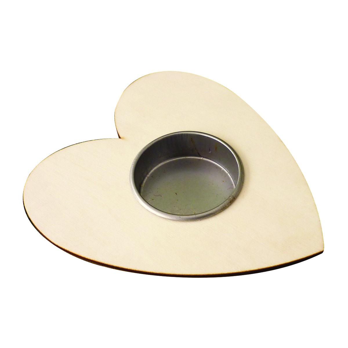 5 supports bougie chauffe plat coeur bougeoir en bois brut d corer 120x100mm h 20mm. Black Bedroom Furniture Sets. Home Design Ideas