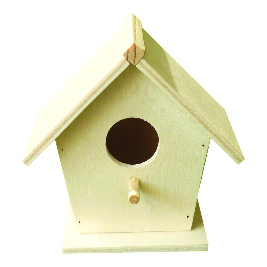Vogelhaus Nistkasten Holz Natur Unbehandelt Zum Anmalen Bemalen