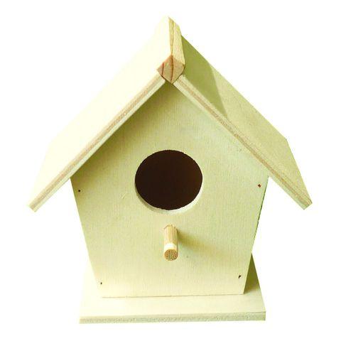 Vogelhaus Nistkasten Holz natur unbehandelt zum Anmalen Bemalen Selbstgestalten – Bild 1