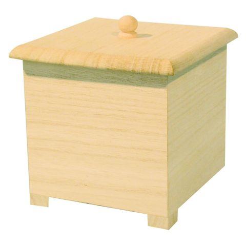 Holzschachtel Holzkästchen Holz-Schmuckschatulle zum Bemalen 11,5x8,5x8,5cm – Bild 1