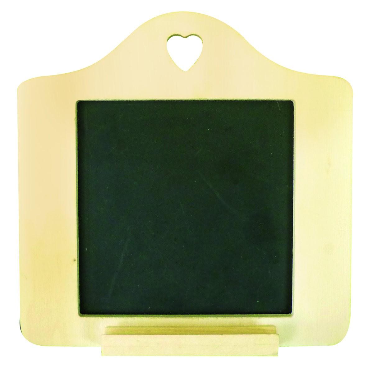 Mini Schiefertafel - kleine Tafel zum Aufhängen, Holz-Rahmen zum ...