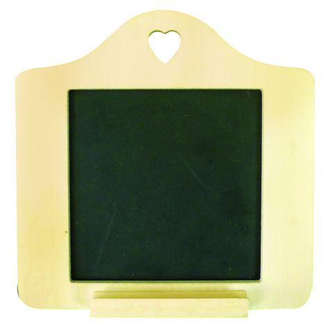 Mini Schiefertafel - kleine Tafel zum Aufhängen, Holz-Rahmen zum Bemalen 15x15cm