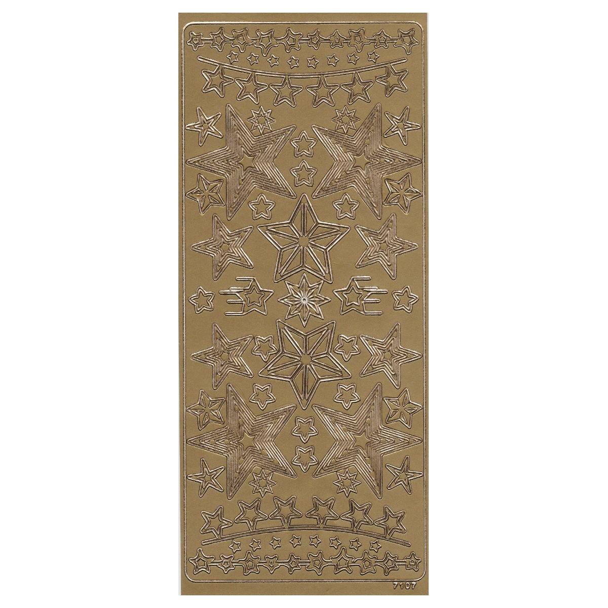 Konturensticker Sterne Gold - Peel off stickers Weihnachten & Advent