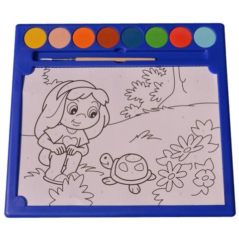 Malen nach Zahlen TIERE - Malset mit 6 Mal-Vorlagen, 8 Wasserfarben, 1 Pinsel – Bild 1