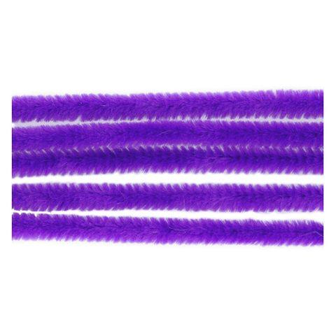 Chenilledraht - 50 Pfeifenputzer lila Ø 6mm 30cm