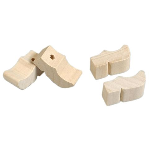 Holländische Holzschuhe mini mit Loch, 12mm 1000 Paar (2000 Stk) - Clogs Klompen zum Bemalen