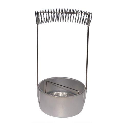 Pinselwascher - Pinselhalter Pinselständer aus Aluminium, Ø 12cm H 22cm