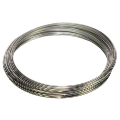 Memory Wire Draht für Armbänder - Schmuckdraht silbern, 30 Schleifen, Ø 50mm – Bild 1