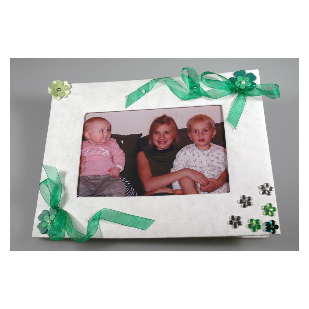 Karton Bilderrahmen - Pappe Fotorahmen weiß blanko zum Bemalen 17x22cm