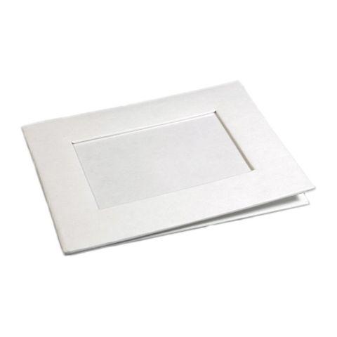 Karton Bilderrahmen - Pappe Fotorahmen weiß blanko zum Bemalen 17x22cm – Bild 1