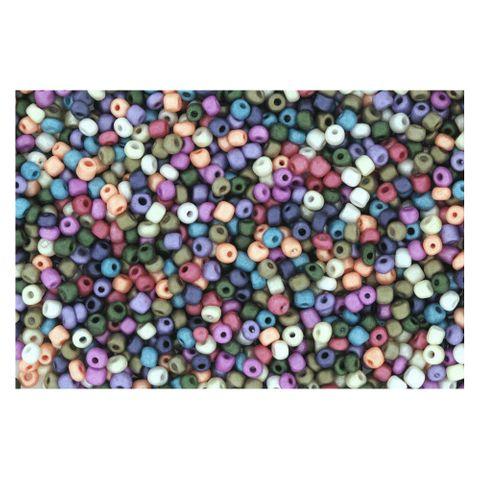 6/0 4mm Rocailles Perlen Bunt Mix, pastell - 1kg Großpackung ca. 13.300 Perlen