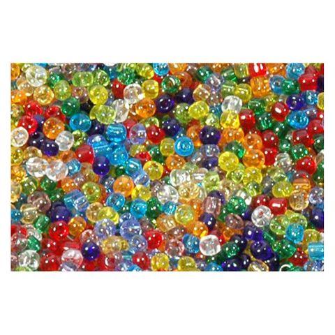 6/0 4mm Rocailles Perlen Bunt Mix, transparent - 1kg Großpackung ca. 13.300 St – Bild 1