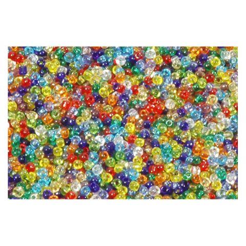 8/0 3mm Rocailles Perlen Bunt Mix transparent - 1kg Großpackung ca. 42.500 Stk
