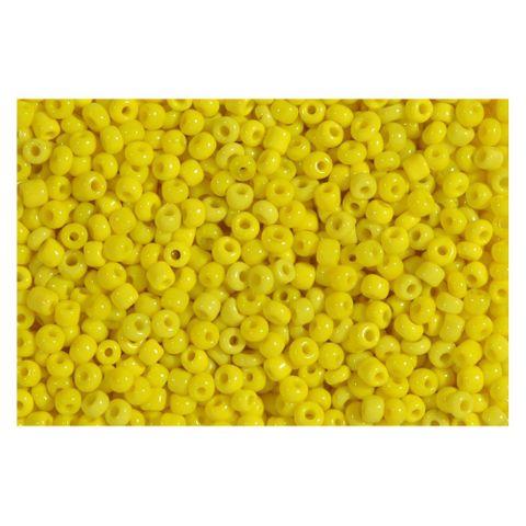 Rocailles gelb opak 2,5mm Perlen - 1kg Großpackung (ca. 32.500 Stück)