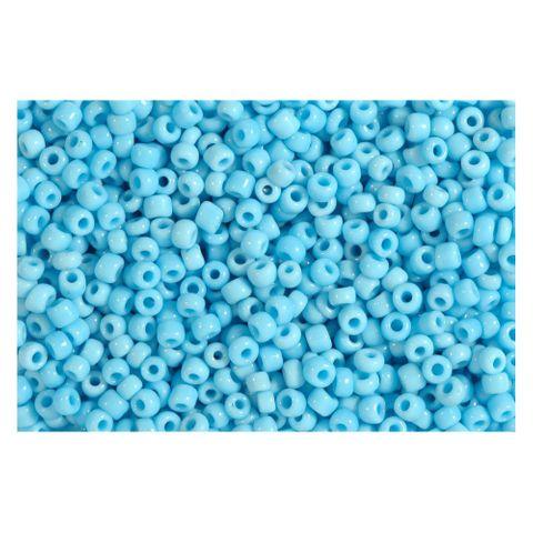 Rocailles blau türkis opak 2,5mm Perlen - 1kg Großpackung (ca. 32.500 Stück)