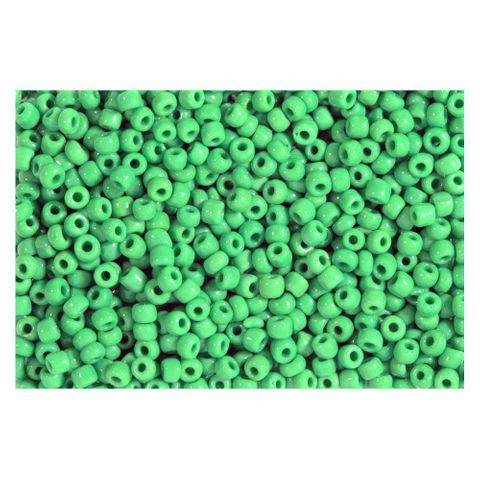 Rocailles grün opak 2,5mm Perlen - 1kg Großpackung (ca. 32.500 Stück)