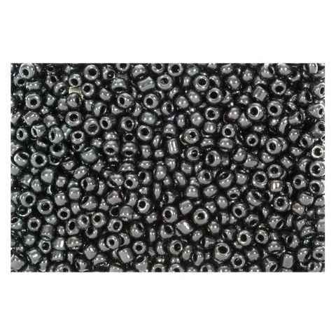 Rocailles schwarz opak 2,5mm Perlen - 1kg Großpackung (ca. 32.500 Stück)