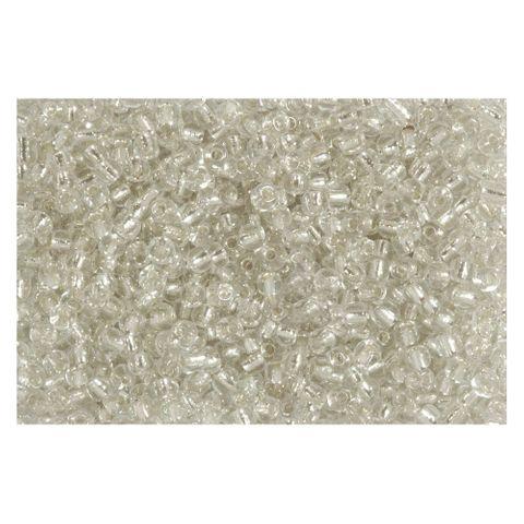 Rocailles Silbereinzug 2,6mm Silverline Perlen farblos transparent - 1kg Großpackung (ca.38500 St)