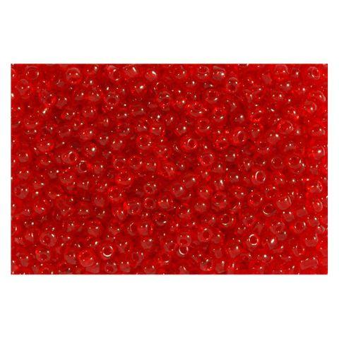 Rocailles Perlen transparent 2,5mm (9/0), rot - 1kg (ca. 40.000 Stück) – Bild 1