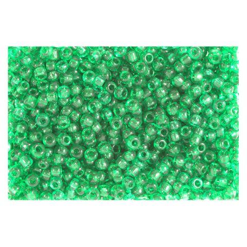 Rocailles Perlen transparent 2,5mm (9/0), grün - 1kg (ca. 40.000 Stück)