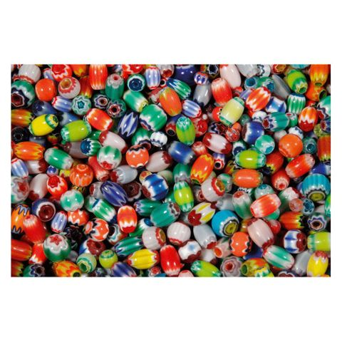 Chevron Perlen - Glasperlen-Mix bunt, rund & oval - 1kg Großpackung – Bild 1