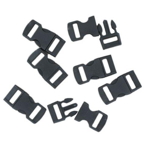 100 Klickschnallen 11mm schwarz, Steckverschluss ideal für Paracord Armbänder – Bild 1