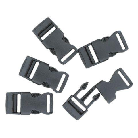 100 Klickschnallen 16mm schwarz, Steckverschluss ideal für Paracord Armbänder – Bild 1