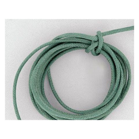Baumwollschnur Baumwollkordel gewachst 2mm grün - 100m Rolle