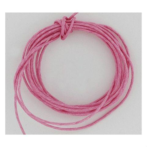 Baumwollschnur Baumwollkordel gewachst 2mm pink - 100m Rolle