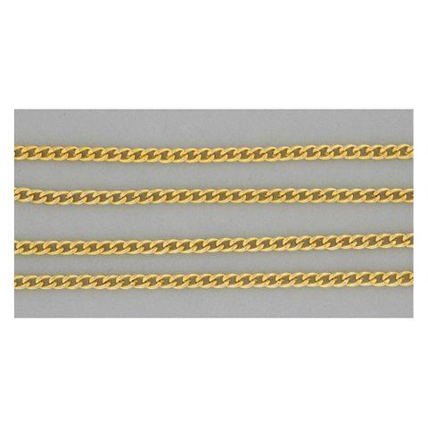 Gliederkette Panzer Kette Meterware vergoldet 1m - Halskette zum Schmuckbasteln