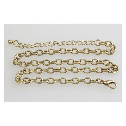 Gliederkette Y-Kette vergoldet Altgold 36cm & 11cm - Halskette Schmuck basteln