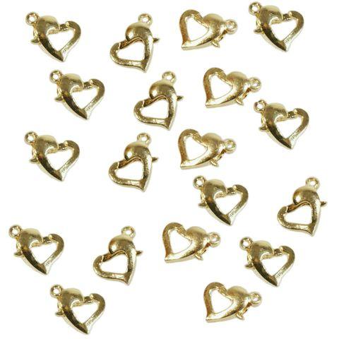 Schmuckverschluss Karabiner Herz vergoldet 1cm, 1000 Stück Großpackung