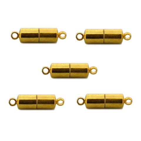 Magnetschließe - Magnetverschluss glatt vergoldet, 5 Stück