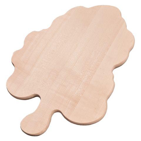 Servierbrett Weinblatt - Käseplatte Wurstplatte Holz natur 43x31cm groß – Bild 1