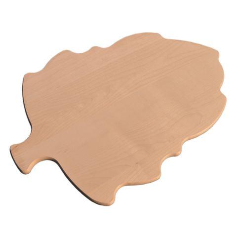 Servierbrett Blatt groß - Käseplatte Wurstplatte Holz natur 42x30cm