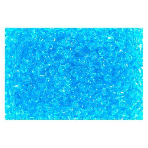 Rocailles Perlen transparent 2,5mm (9/0), blau aquamarin - 30g (ca. 1.200 Stück)