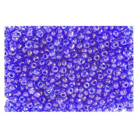 Rocailles Perlen transparent 2,5mm (9/0), violett - 500g (ca. 20.000 Stück)