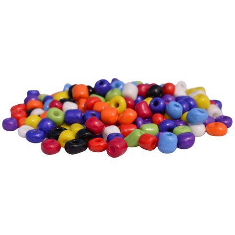 4/0 5mm große Rocailles Perlen Bunt Mix, opak - 30g (ca.190 Stück) – Bild 1