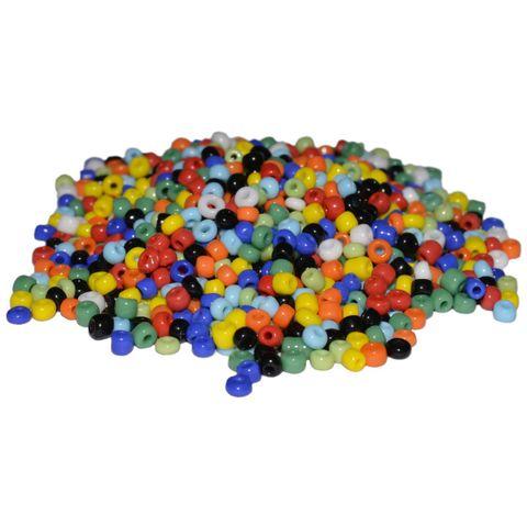 8/0 3mm Rocailles Perlen Bunt Mix, opak - 30g (ca. 1.000 Stück) – Bild 1